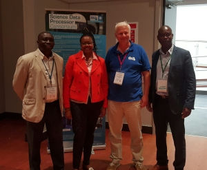 Dr Happy Sithole (Director, Centre High Performance Computing - South Africa), HE Zodwa Lallie (High Commissioner of the Republic of South Africa in New Zealand), Nicolás Erdödy (Open Parallel - New Zealand), Dr Tshiamo Motshegwa (University of Botswana)